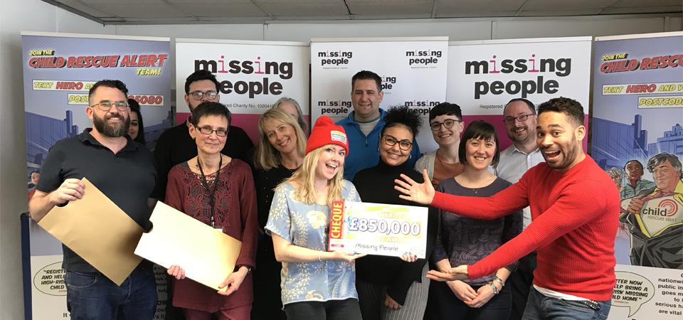 Missing People staff receiving PPL funding