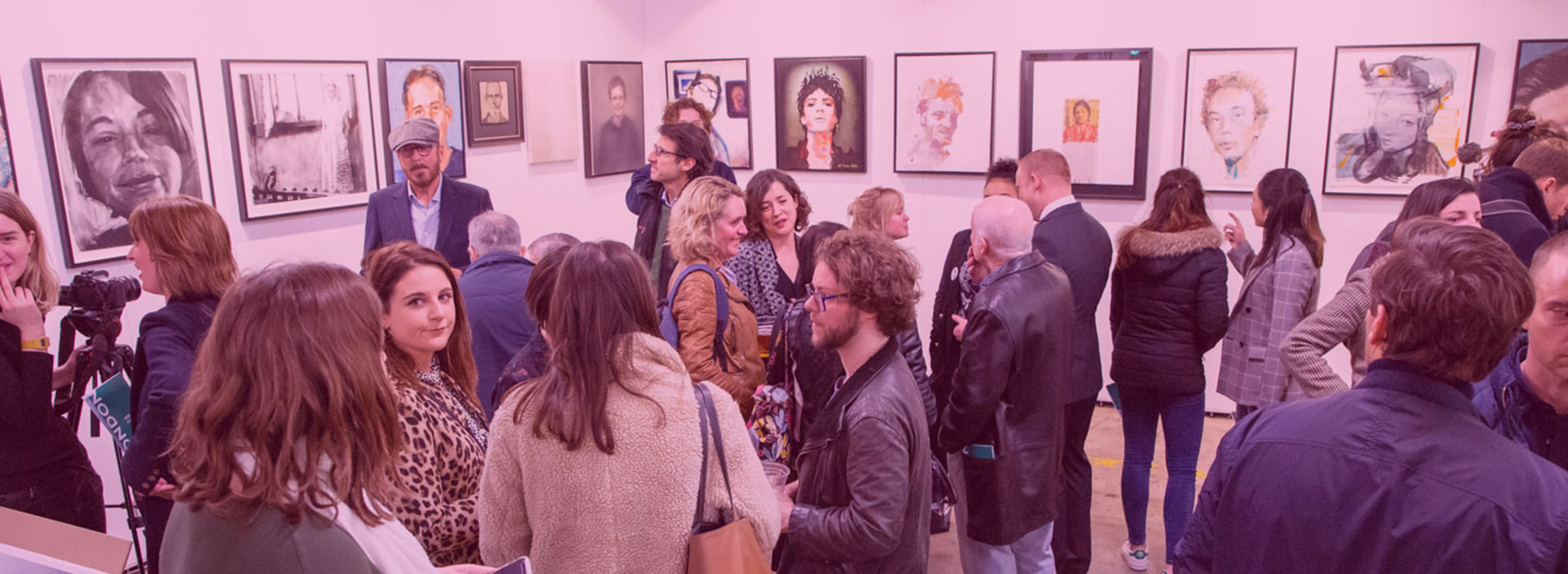 Crowds at Missing People exhibition Unmissable
